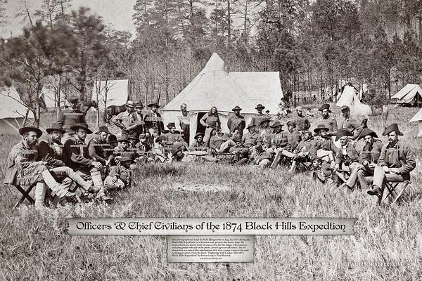 Camp near Custer Gap in the Black Hills