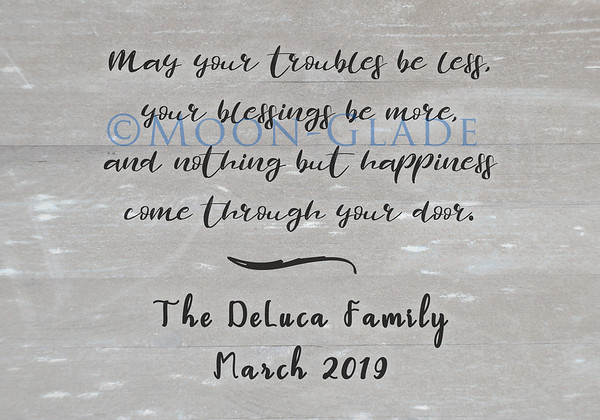 house blessing DeLuca