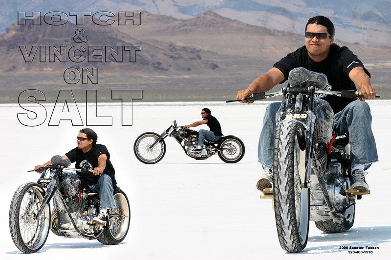 Matt Hotch, Discovery Channel Biker Build-Off on the Bonneville Salt Flats.
