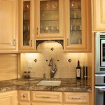 The cabinetry here, was carefully arranged to create another mini composition within the whole masterpiece.