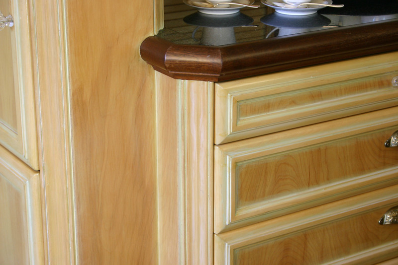 Much care was taken to giving the cabinetry generous detailing, without wasting space.