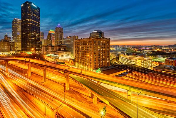 Highways through Pittsburgh