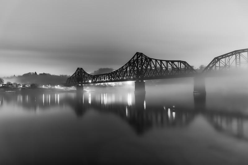 Monaca-Beaver Railroad Bridge in the Fog