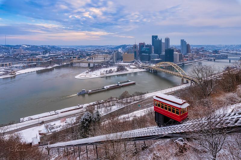 The Classic Pittsburgh Winter Scene