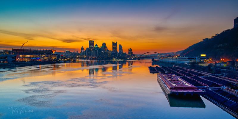 Dawn on the River - Pittsburgh Pennsylvania