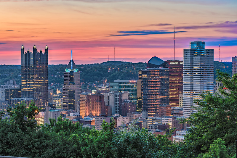 Sunset from Pittsburgh Pennsylvania