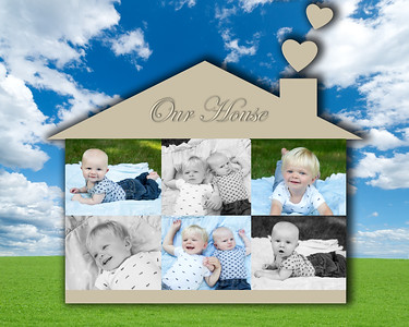 Our house collage  16x20