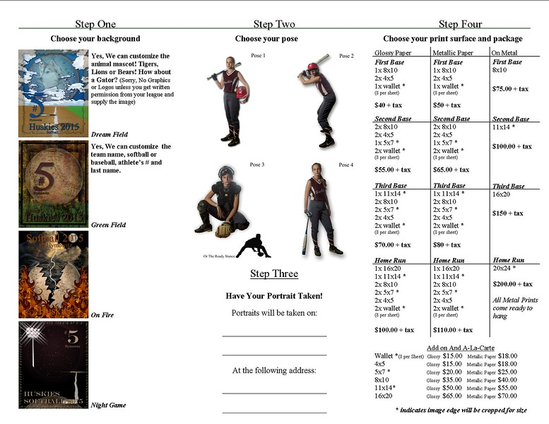 Shooting Stars Package menu