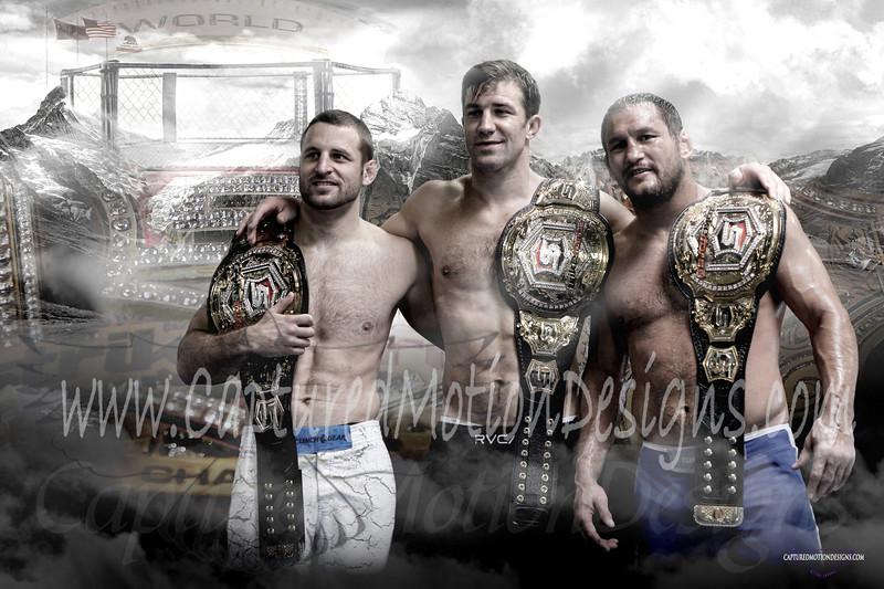 StrikeForce Champions:  Tarec Saffiedine, Luke Rockhold, Dan Henderson.