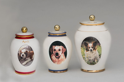 Pets Urns with client supplied photos