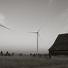 Barn on turbine farm