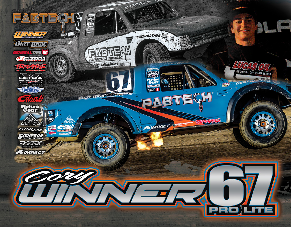 Cory Winner Hero Poster FabTech  Lucas Oil Offroad Champion 2017