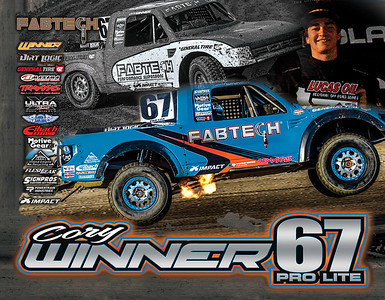 Cory Winner Hero Poster FabTech  Lucas Oil Offroad Champion 2017