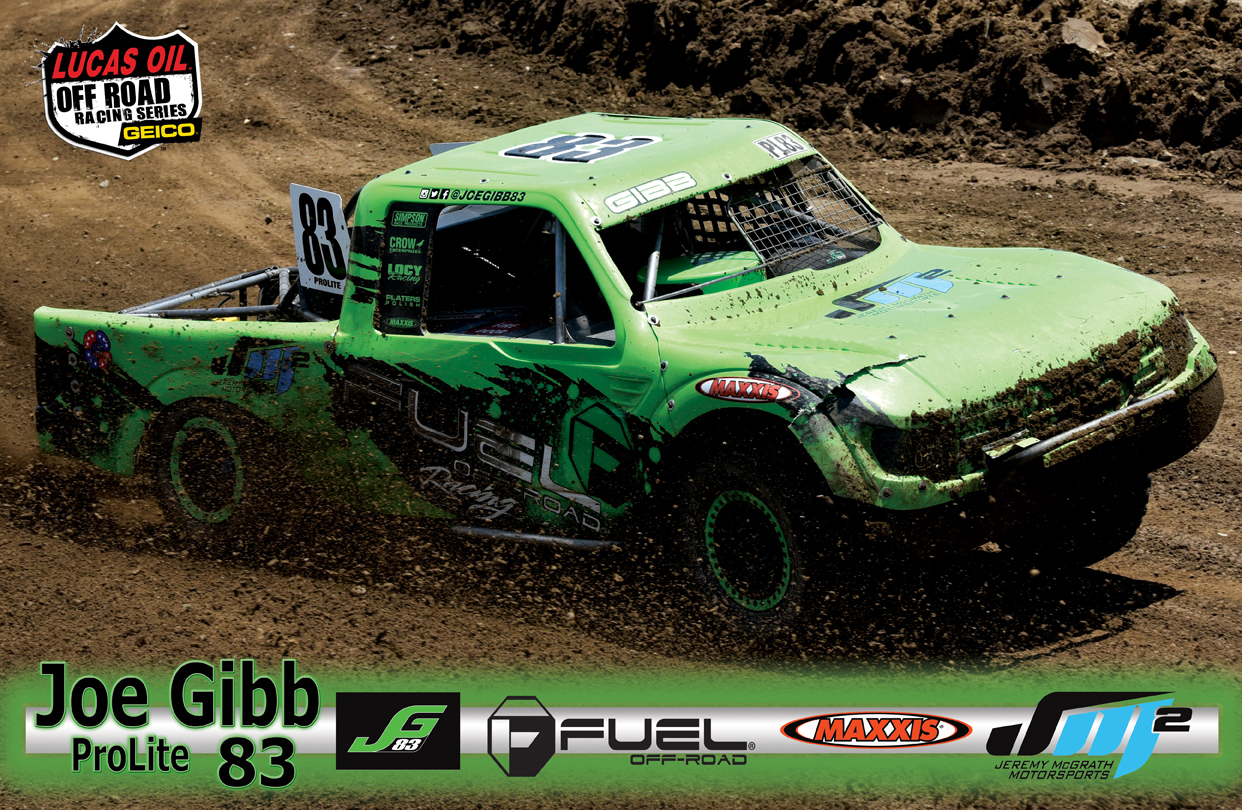 Joe Gibb #83 Lucas Off Road Series Poster