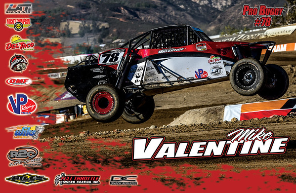 Custom 11x17 poster created for Mike Valentine #78 Pro Buggy LOORS