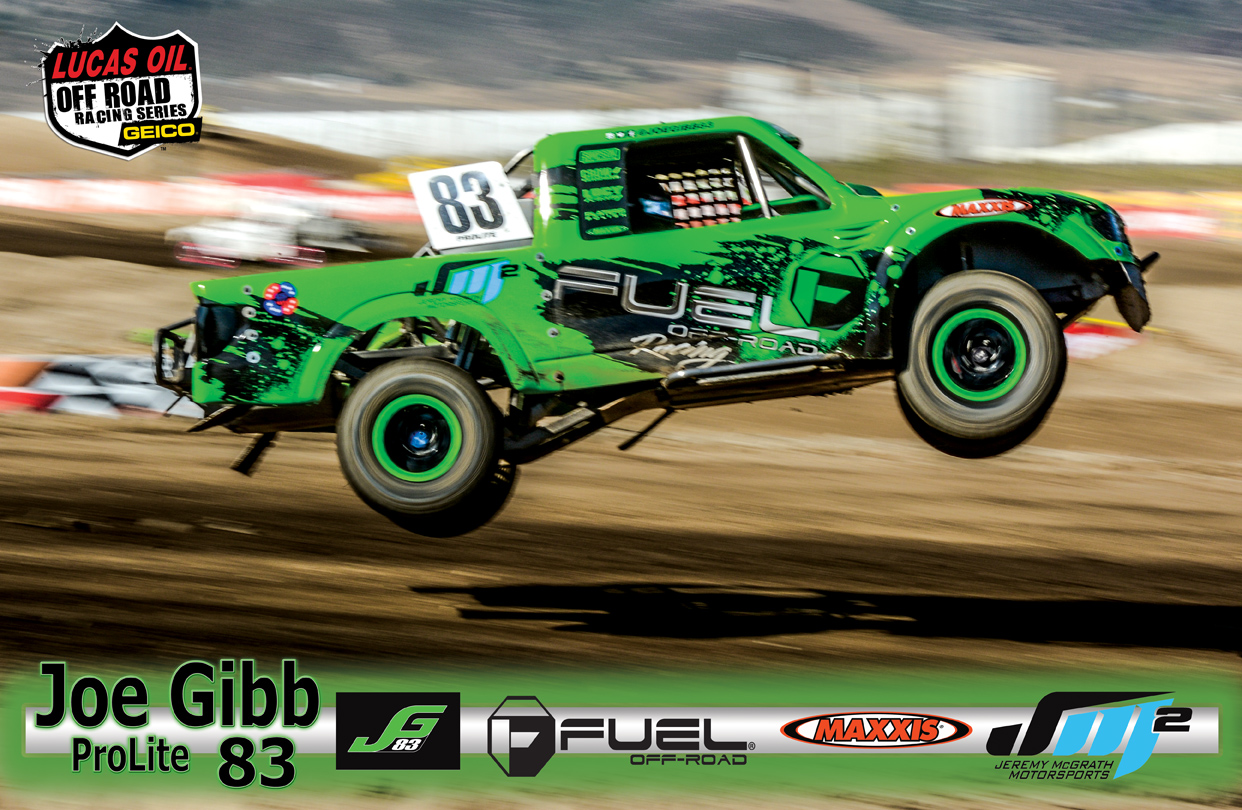 custom 11x17 high gloss poster created and printed for Joe Gibb # 83 ProLite driver