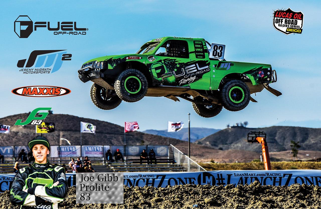 Custom poster created for Gibb Racing. Joe Gibb ProLite #83