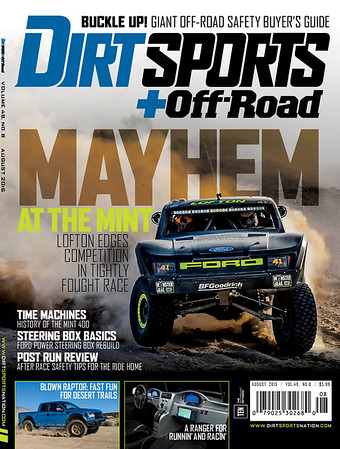 The Mint 400 2015 Dirt Sports Front Cover Justin Lofton