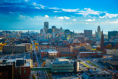 Downtown Buffalo Skyline from the Roof of Buffalo General Hospital  Photographer: Douglas Levere