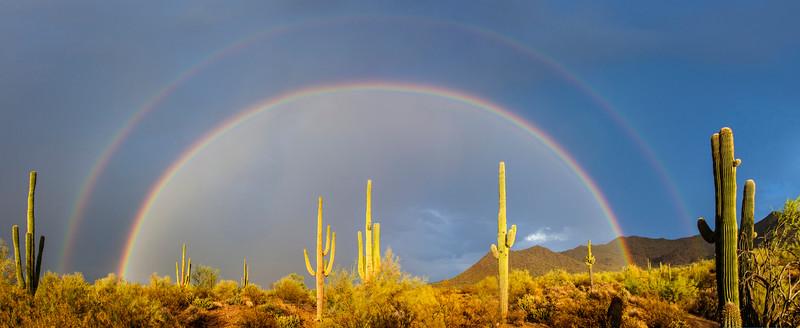058 - Double Rainbow Desert, Arizona