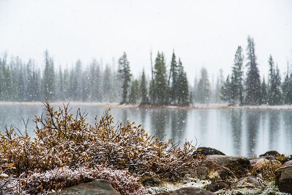 069 - Snowing, Mirror Lake, Kamas, Utah