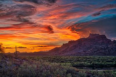 Arizona Monsoon Thunderstorm over Red Mountain - Mesa, Arizona