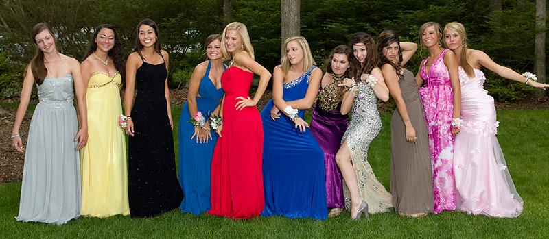 Pre-prom group portrait