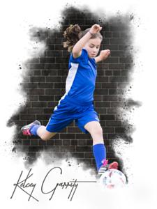 Kelcey Soccer brick wall