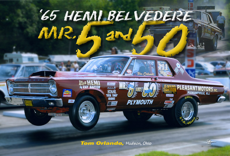 """Tom Orlando wanted something that told the detailed story of his winning """"Mr.5 and 50"""" Hemi Belvedere."""