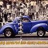 Barb Hamilton and Nancy Leonello needed a hero card for their appearance at the 2008 Gasser Reunion at Thompson Drag Raceway.  This was the front of the two sided page.