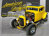 "The card tells the story.  Mario had a dream and he made it come true. This is an amazing part perfect replication of the famous yellow '32 Deuce Coupe from the classic movie ""American Graffiti"".  Great job, Mario!"