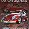 This is a preliminary layout of a banner-style show card for Henry Martin of North Port Florida.  He needed  something he could carry easily in his Bug!  We've been working on finishing the details.  You may have seen this unbelievable car on Facebook from time to time.  He manages to win well deserved accolades and press coverage in a variety of VW magzines.  The specs on this layout are NOT for Henry's car.  We're still working on the copy.  Check in on the finished product in my main Showcard gallery in the next couple of months.
