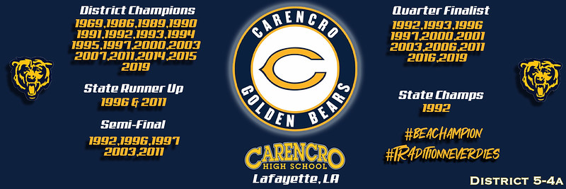 Final Carencro Bears Banner