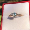 0.95ct 18kt Rose Gold Pear Ring GIA F I1 2