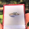 0.95ct 18kt Rose Gold Pear Ring GIA F I1 8