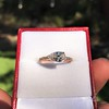 0.95ct 18kt Rose Gold Pear Ring GIA F I1 7
