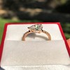 0.95ct 18kt Rose Gold Pear Ring GIA F I1 21