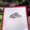 0.95ct 18kt Rose Gold Pear Ring GIA F I1 3