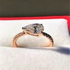 0.95ct 18kt Rose Gold Pear Ring GIA F I1 0