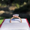 0.95ct 18kt Rose Gold Pear Ring GIA F I1 11