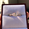 0.95ct 18kt Rose Gold Pear Ring GIA F I1 4
