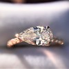 0.95ct 18kt Rose Gold Pear Ring GIA F I1 17