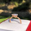 0.95ct 18kt Rose Gold Pear Ring GIA F I1 1