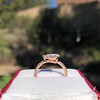 0.95ct 18kt Rose Gold Pear Ring GIA F I1 14