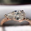 0.95ct 18kt Rose Gold Pear Ring GIA F I1 18