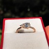 0.95ct 18kt Rose Gold Pear Ring GIA F I1 24