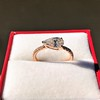 0.95ct 18kt Rose Gold Pear Ring GIA F I1 13