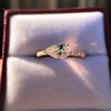 0.95ct 18kt Rose Gold Pear Ring GIA F I1 19