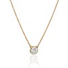 1.02ct Antique Heart Diamond Bezel Pendant 0