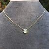 1.02ct Antique Heart Diamond Bezel Pendant 8